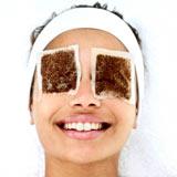 Чайные пакетики на глазах, фото