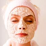 Очищающая маска для лица из овсянки и соды