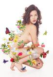женщина в цветочках