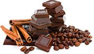 шоколад, кофе, корица