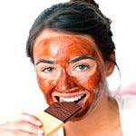 омолаживающая маска для лица с шоколадом и зеленым чаем