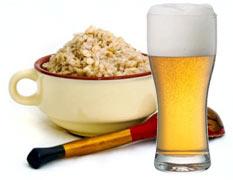 Овсянка на пиве для лица