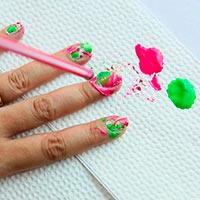 феерический маникюр на крепких ногтях, фото