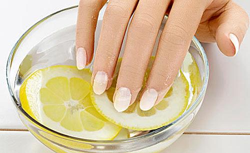 ванночка для ногтей с лимоном, фото