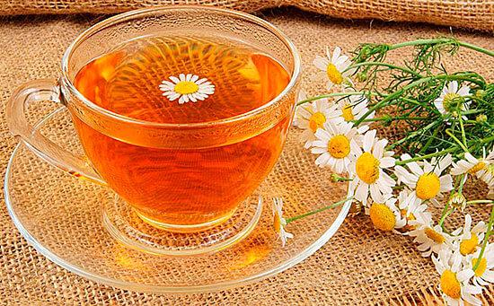 Ромашковый чай, красивое фото