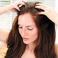 массаж головы против выпадения волос