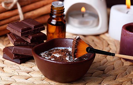Шоколадная маска для кожи лица, фото