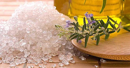 морская соль для глубокого чищения волос