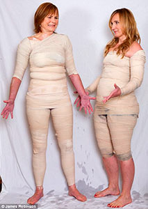 две женщины в обертывании, прикольное фото